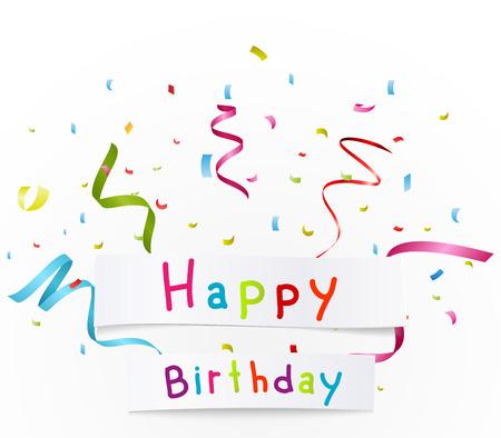 felicitaciones cumpleaÑos: saludos del feliz cumpleaños con papel