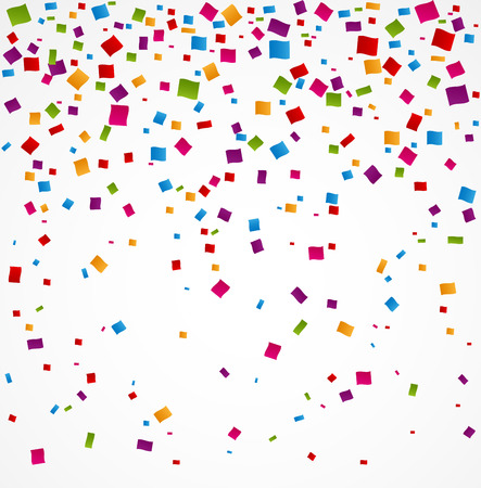 celebrate: Colorful confetti on white background