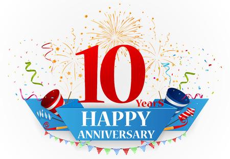 Happy anniversary celebration design Vettoriali