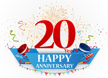 20: Happy anniversary celebration design Illustration