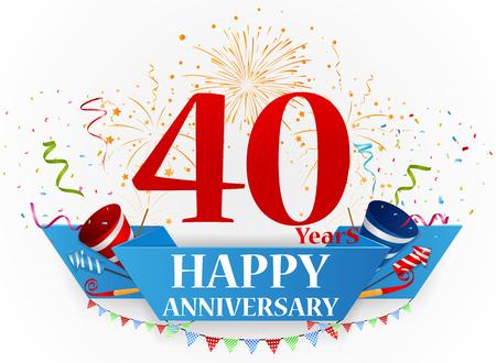 Buon anniversario disegno celebrazione Archivio Fotografico - 49932746