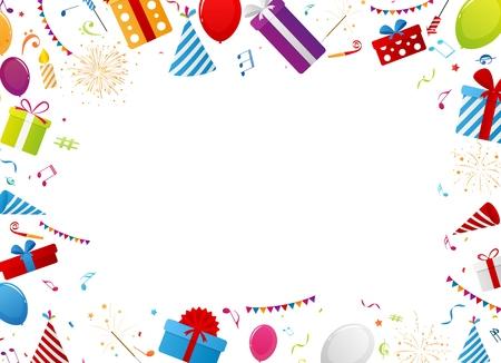celebration background: Birthday gift celebration background Illustration