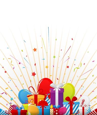 celebration party: Birthday celebration background with party elements