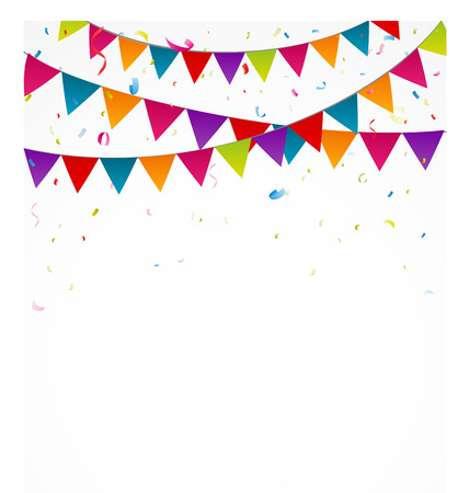 bunting flags: Birthday bunting flags with confetti