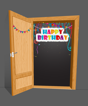welcome door: Birthday surprise with open door