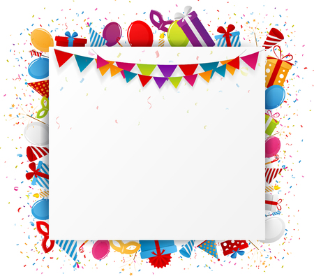 birthday party: Birthday background with party icon Illustration