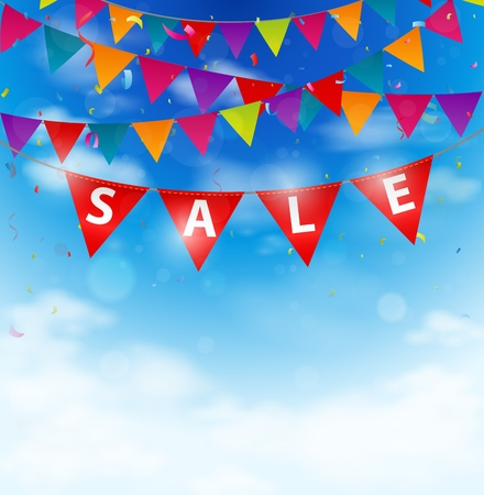 bunting flags: Sale background on bunting flags
