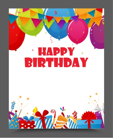 birthday party: Birthday celebration party card design Illustration