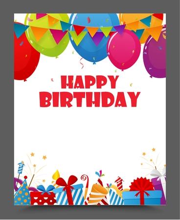 celebration party: Birthday celebration party card design Illustration
