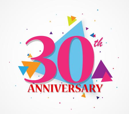 anniversary celebration: Happy Anniversary celebration with triangle shape Illustration