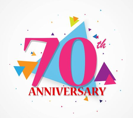 popper: Happy Anniversary celebration with triangle shape Illustration