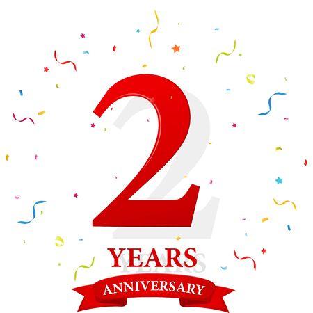 anniversary celebration: Happy Anniversary celebration with confetti