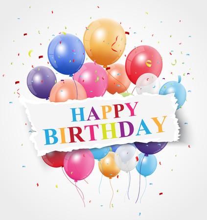 children celebration: Happy Birthday greeting card design