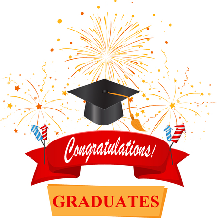 felicitaciones con tapón de graduado