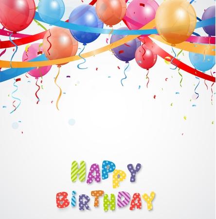 celebration: Celebration balloon with confetti