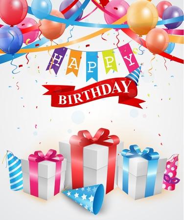 greetings card: Happy Birthday greetings card Illustration