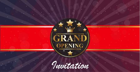 opening party: Grand Opening banners invitation