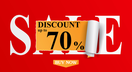 Sale Design for shop and online store with Discount