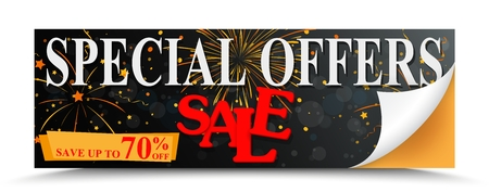 Sale special offer design with percent discount