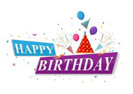 felicitaciones cumpleaÑos: diseño feliz cumpleaños tarjeta de saludos