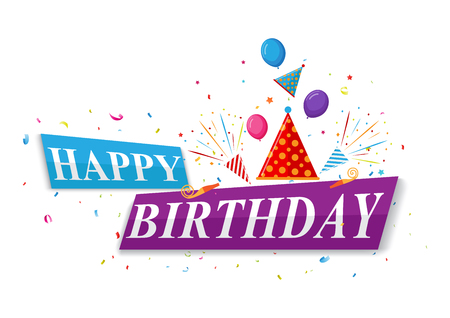 birthday greetings: Happy Birthday greetings card design