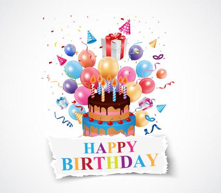 marco cumpleaños: Cumpleaños fondo de la celebración