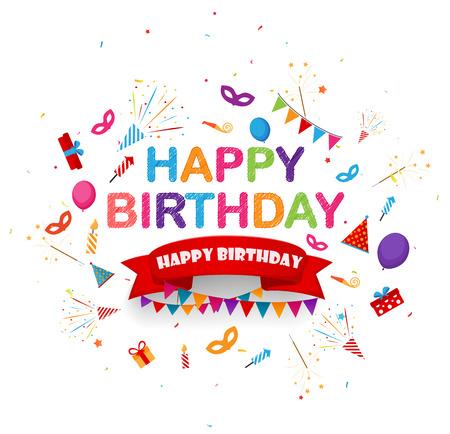 feestelijk: achtergrond verjaardag feest met feestelijke icoon