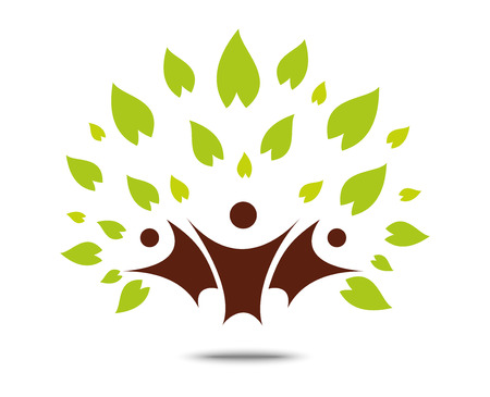 tree symbol: Green family tree sign and symbol, eco concept
