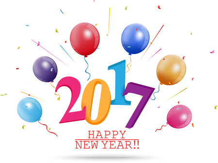 new year greeting: Happy New Year greeting card design