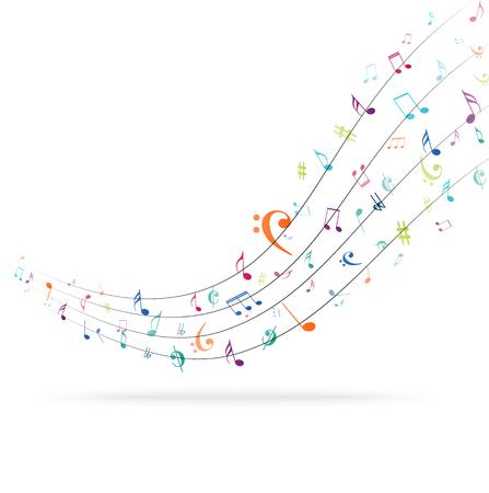 Kleurrijke muziek merkt achtergrond