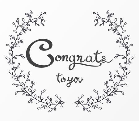 Congratulations lettering design
