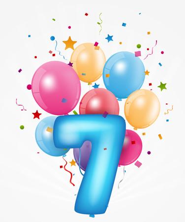Gelukkige verjaardag ballon met nummer
