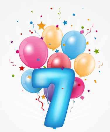 Happy Birthday balloon with number