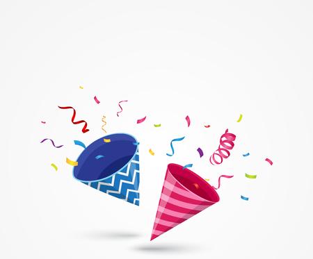 Exploding party popper Illustration