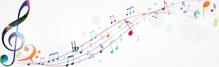 Colorful music notes background Фото со стока - 78348735
