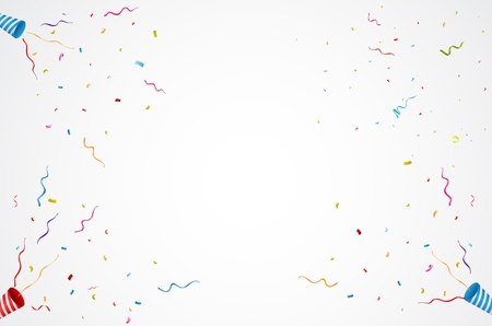 exploding party popper background