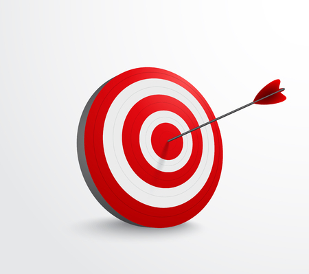 Dart target with arrow