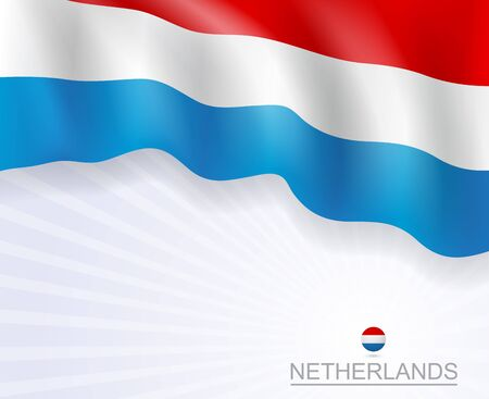 Netherlands flags brochure design banner Ilustrace