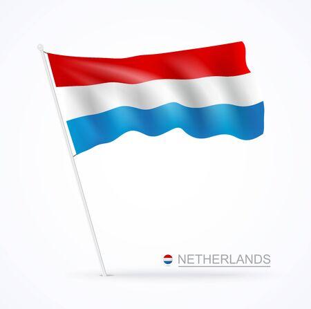 Netherlands waving flags banner