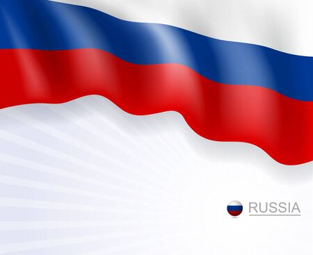 Russian flags design banner, background