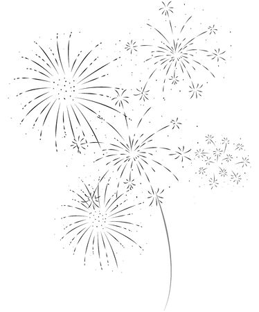 Fireworks festive and event , isolated on white background