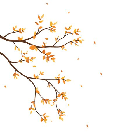 Autumn season with falling leaves for wallpaper sticker