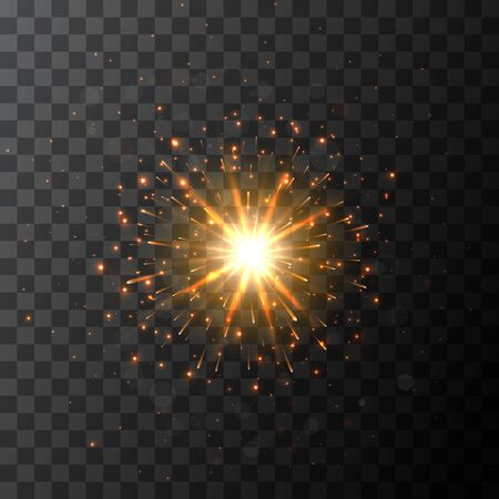 Star burst sparkle with glow light effect