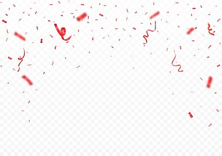 Falling Red confetti banner background