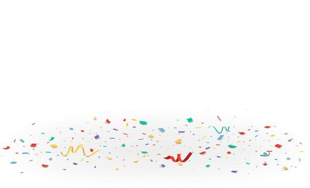 Colorful confetti isolated on transparent background Vectores