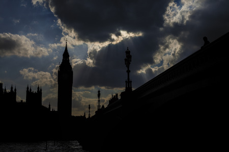 big ben silouette photo