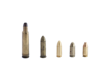45 ammo: several 9mm hollow point bullets