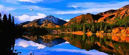 autmn: Alaska autmn Illustration