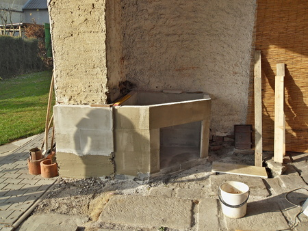 outdoor fireplace: building an outdoor fireplace with smoke