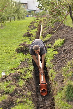 work on the home sewer